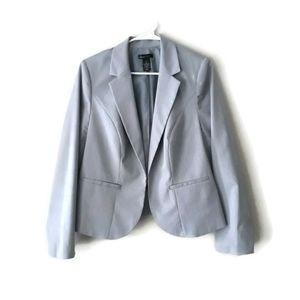 Lane Bryant Gray/White Pinstripe Blazer Size 14